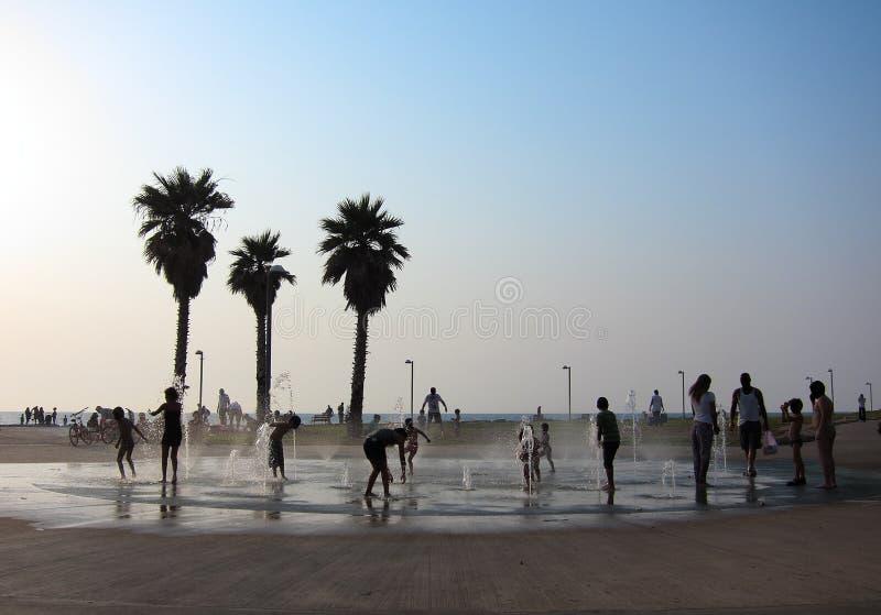 Download Tel Aviv Beach, Israel stock image. Image of relax, splash - 20327275