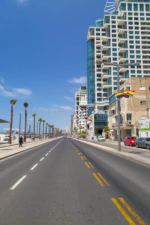 Tel Aviv beach, Israel stock image