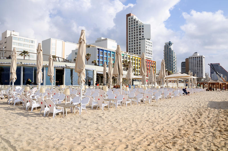 Tel Aviv beach. stock photo