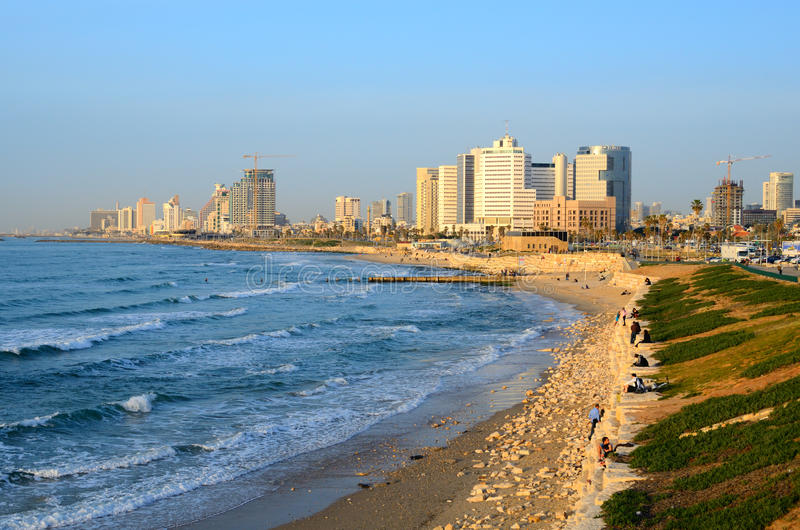 Download Tel Aviv Beachfront editorial stock photo. Image of skyline - 23617688