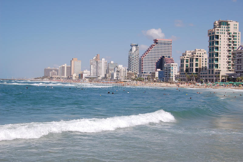 Tel-Aviv beech stock photos