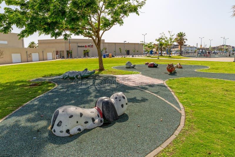 Tel Aviv caçoa o campo de jogos fotografia de stock royalty free