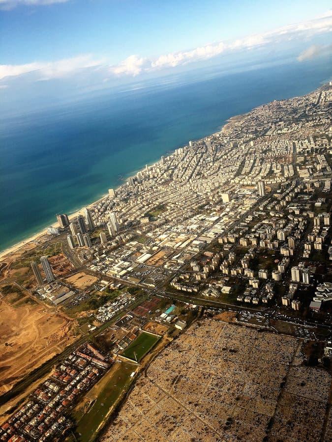 Tel Aviv dall'aereo fotografie stock