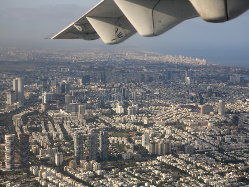 Tel Aviv del aire imagen de archivo