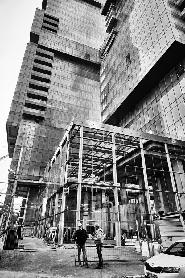 Tel Aviv - 9 dicembre 2016: Edifici alti in cen della città di Tel Aviv fotografie stock libere da diritti