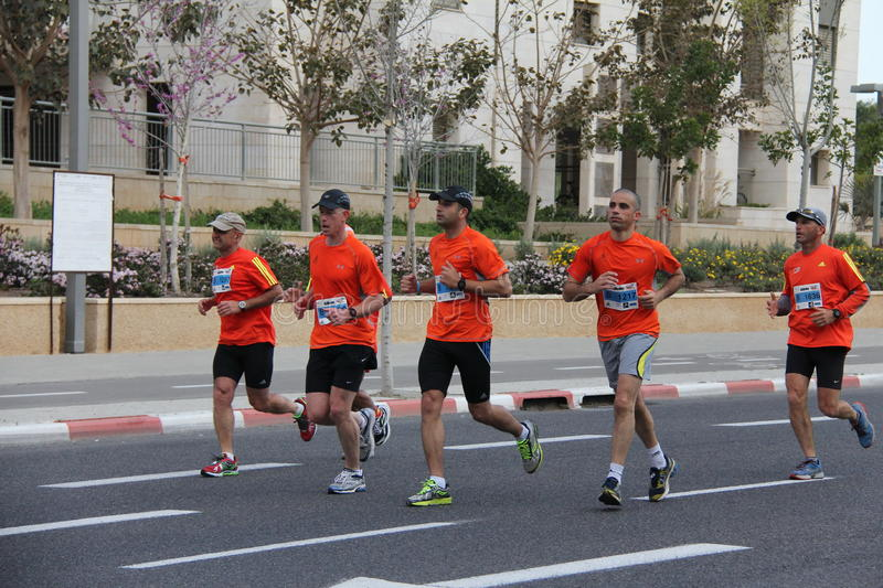 Tel Aviv Gillette Marathon royalty free stock photography