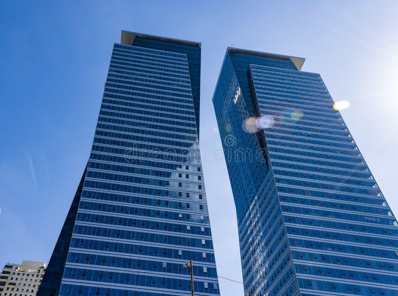 TEL AVIV, grattacieli di ISRAEL New Architecture fotografia stock