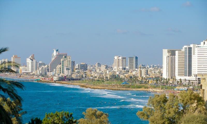 Tel Aviv horisont royaltyfri fotografi