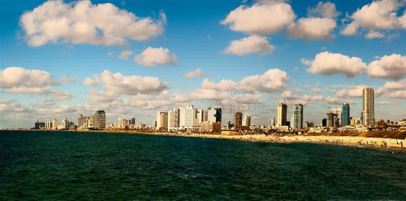 Tel Aviv horisont Israel royaltyfri bild