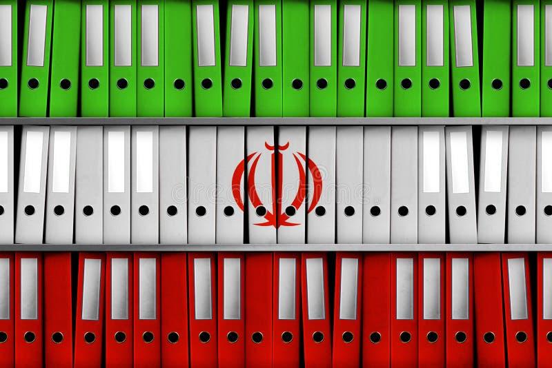 TEL AVIV, ISRAËL, le 30 avril 2018 - rendu 3D pour l'Israël indiquant 100 000 dossiers iraniens sur le programme nucléaire secret illustration stock
