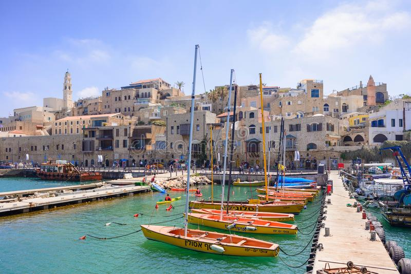 TEL AVIV, ISRAEL - APRIL, 2017: Old town and port of Jaffa of Tel Aviv city, Israel. TEL AVIV, ISRAEL - APRIL, 2017: Old town and port of Jaffa of Tel Aviv city stock image
