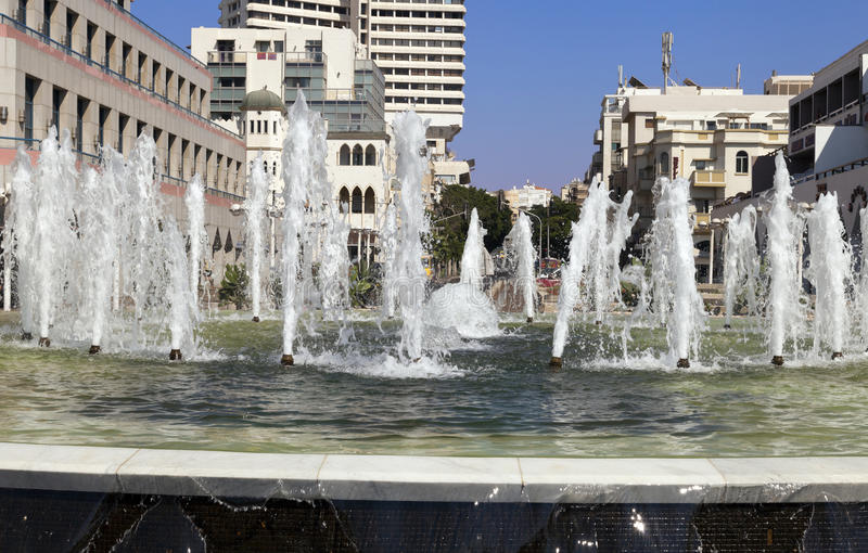 Download Alenbi Fountain editorial stock image. Image of vacation - 30280049