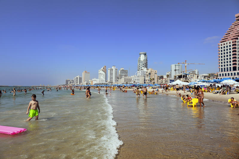 Download Summer At The Beach In Tel-Aviv Editorial Image - Image: 30209565