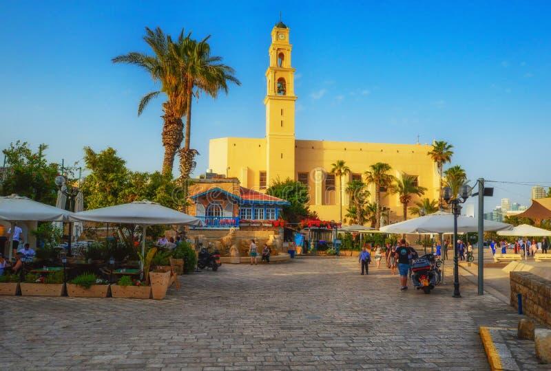 Tel Aviv, Israel, calles de piedra antiguas en estilo árabe en Jaffa viejo foto de archivo libre de regalías