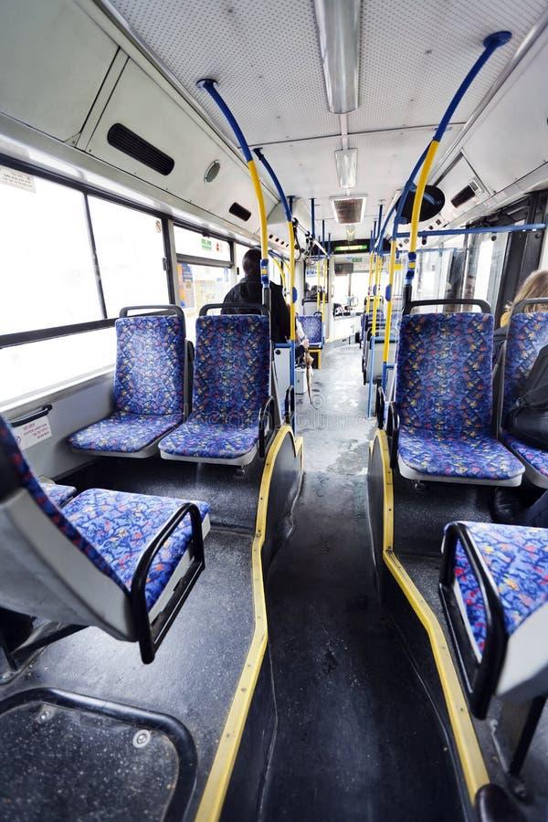 Mañana israelí del invierno del autobús fotos de archivo libres de regalías