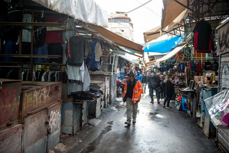 TEL AVIV, ISRAEL - DECEMBER 07, 2018: Carmel Market in Tel Aviv, Israel royalty free stock images