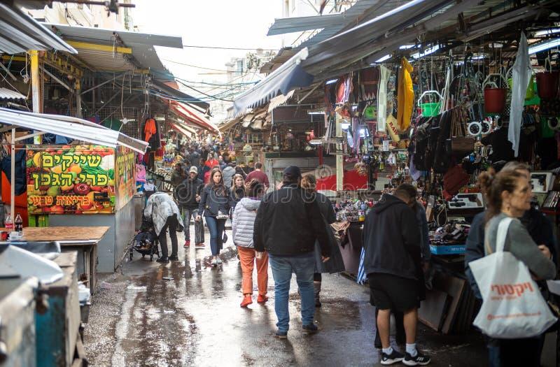 TEL AVIV, ISRAEL - DECEMBER 07, 2018: Carmel Market in Tel Aviv, Israel. stock image