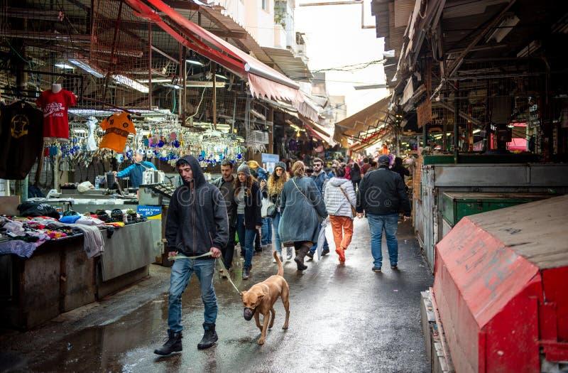 TEL AVIV, ISRAEL - DECEMBER 07, 2018: Carmel Market in Tel Aviv, Israel. royalty free stock images