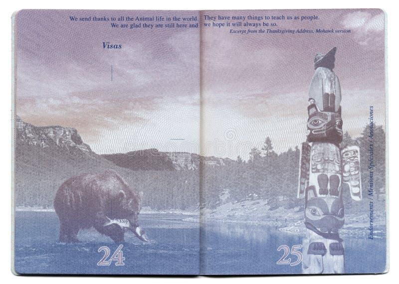 USA-Pass-Leerseite lizenzfreie stockfotos