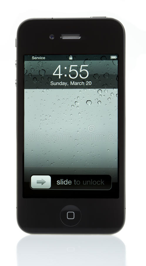 Lokalisiertes iPhone 4 - verschlossen stockfoto