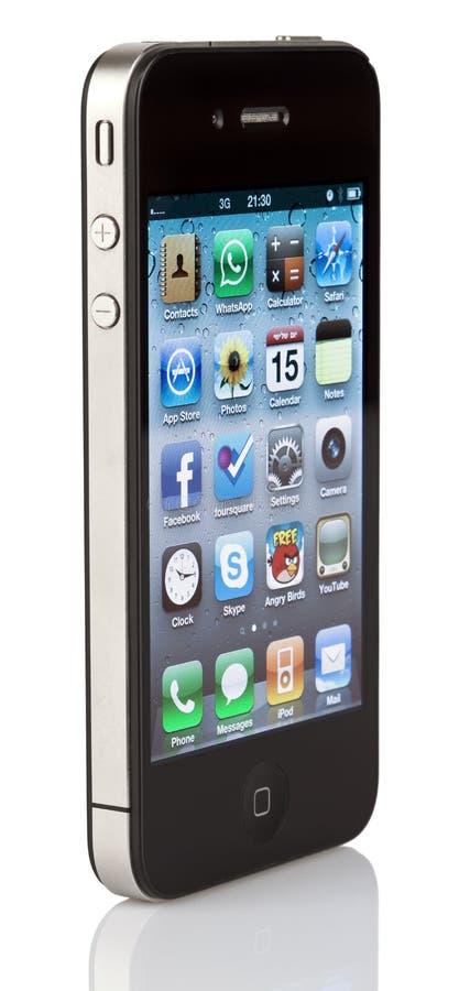 Lokalisiertes iPhone 4 lizenzfreie stockfotos