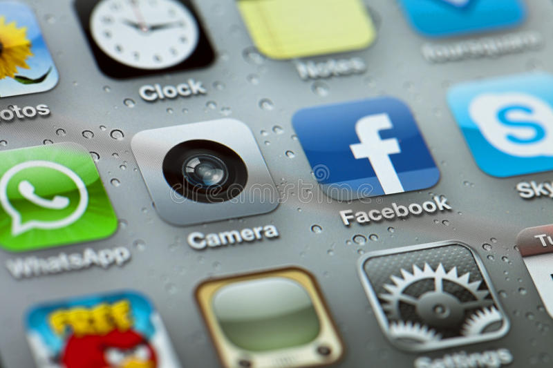 Download IPhone 4 Apps editorial photo. Image of brand, diagonal - 29913896