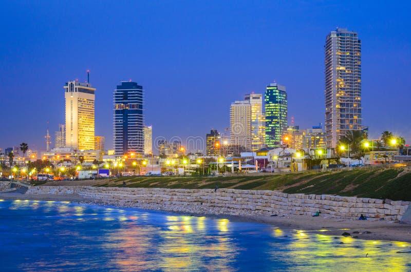 Tel Aviv, Israel Skyline foto de stock