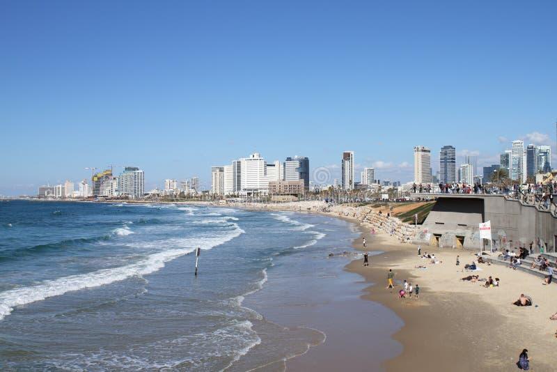 TEL AVIV, IZRAEL nabrzeże - 3 MAR 2017 - fotografia stock
