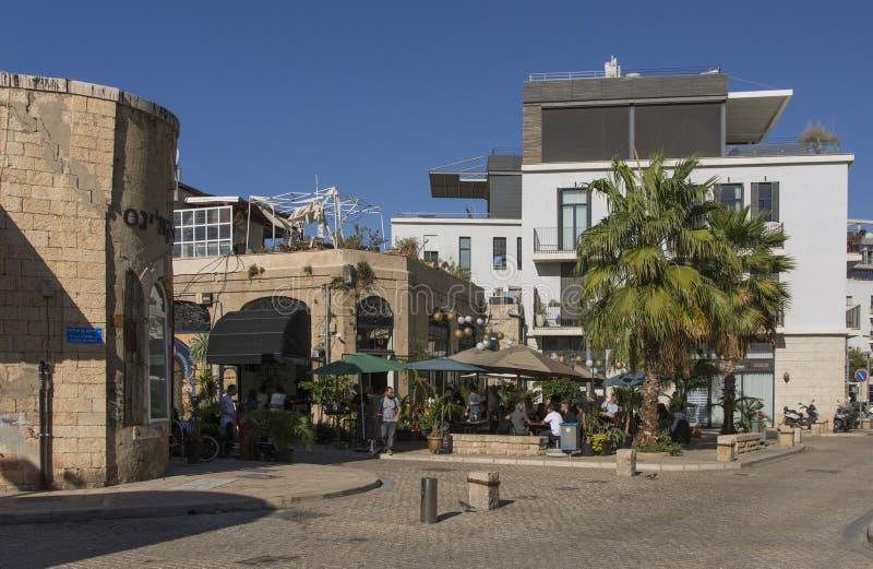 Tel Aviv, Jaffa -, Październik 27, 2018: Stara ulica w Arabskiej ćwiartce Jaffa Tel Aviv, Jaffa, -, Izrael obrazy royalty free