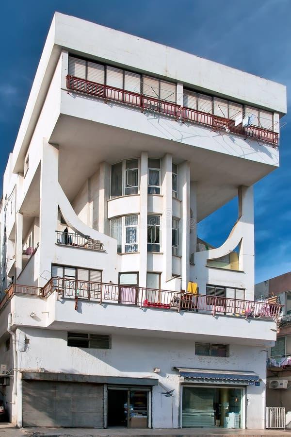 Utforma husBauhaus. Tel Aviv arkivbilder