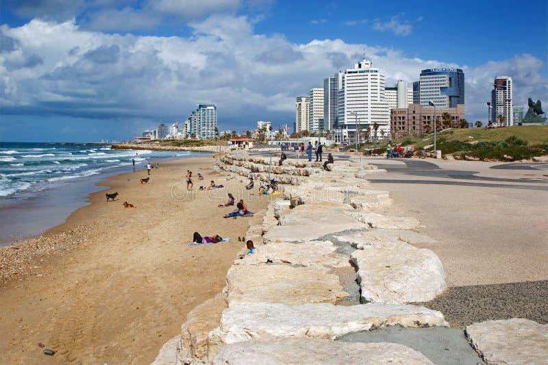 Tel Aviv - la costa de Tel Aviv foto de archivo libre de regalías