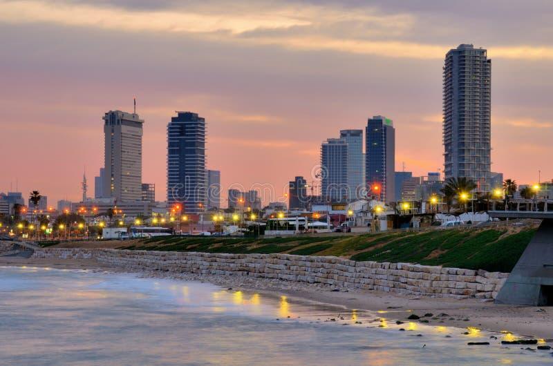 Tel Aviv Linia horyzontu zdjęcie royalty free