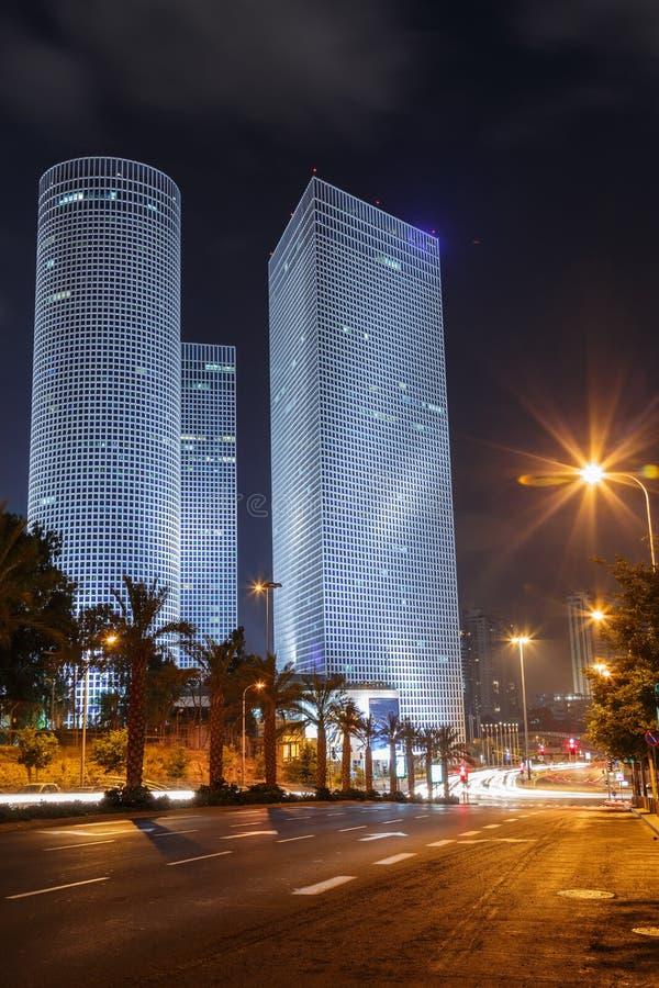 Tel Aviv nachts lizenzfreies stockfoto
