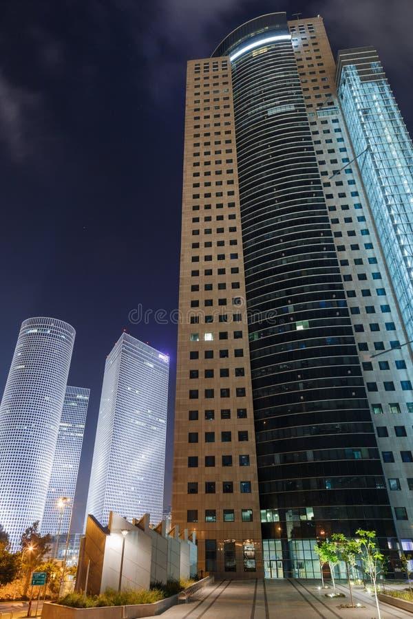 Tel Aviv nachts stockbild