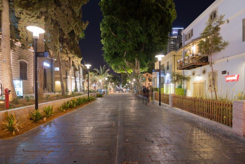 Tel Aviv nocy życie obrazy royalty free