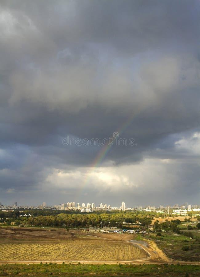 Tel Aviv och Ramat Gan arkivfoton