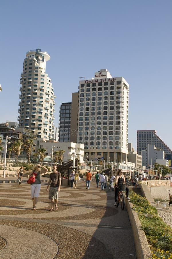 Tel-Aviv,promenade in summer day stock images