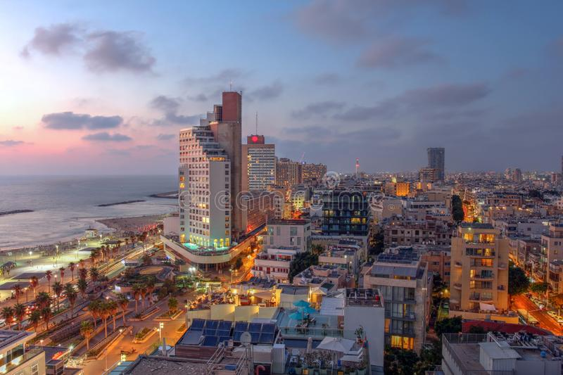 Tel Aviv skyline, Israel stock images