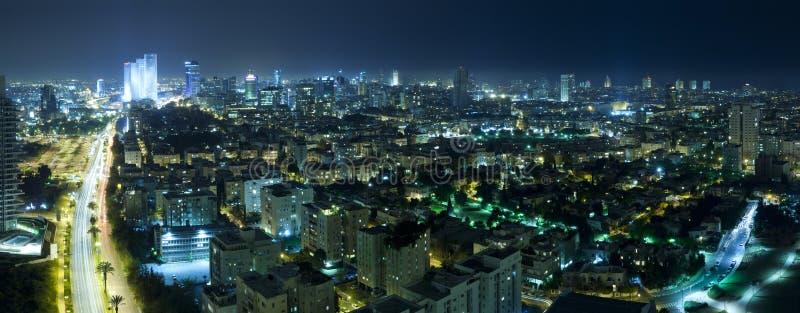 Download Tel Aviv Skyline at Night stock image. Image of large - 19291597