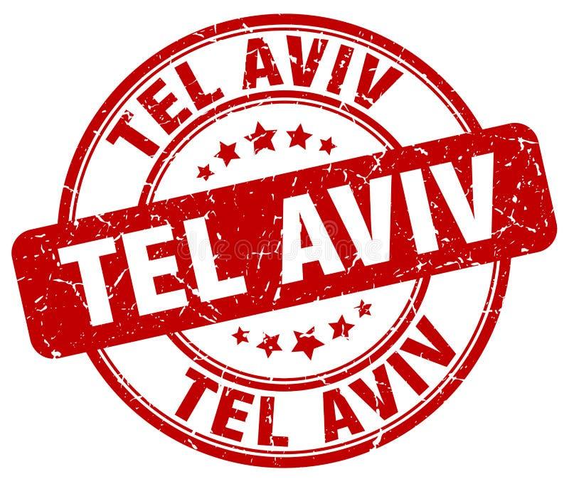 Tel Aviv stämpel royaltyfri illustrationer