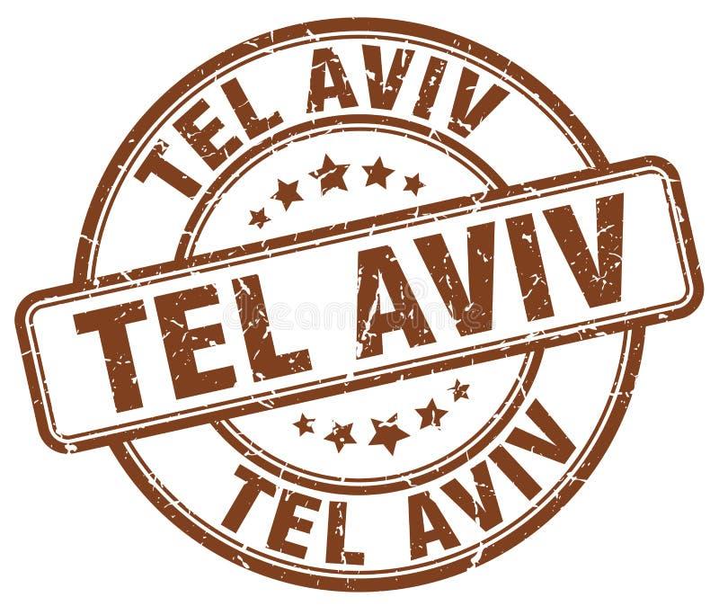 Tel Aviv stamp stock illustration