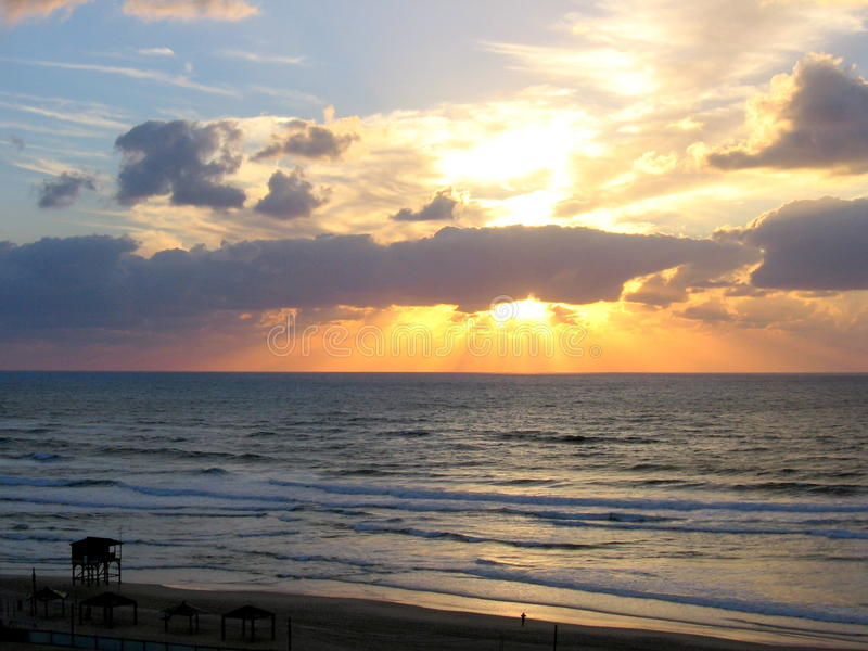 Tel Aviv Strand stockbilder