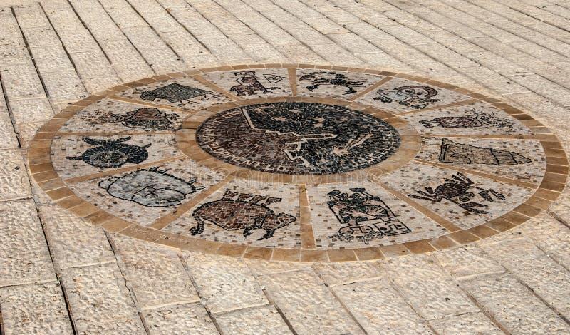 Tel Aviv Street Sign Horoscope royalty free stock images