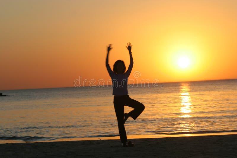 tel aviv sunset beach jogi zdjęcia stock