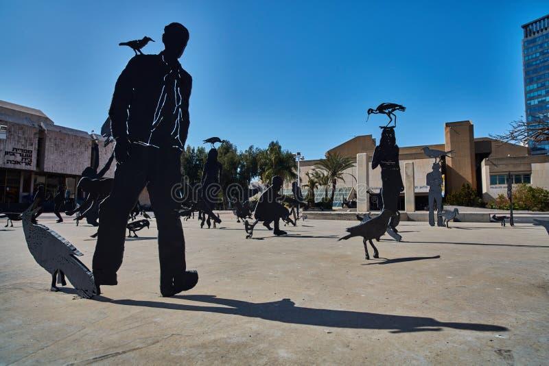 Tel Aviv - 10 02 2017: Tel Aviv muzeum sztuki powierzchowność i sztuki monu zdjęcie stock