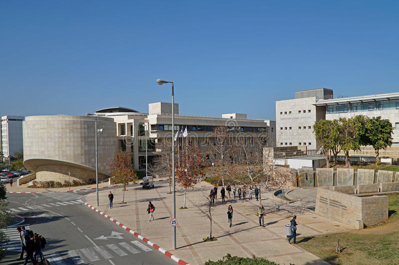 TEL AVIV University. The campus has bold modern architecture and large plazas for students to mingle royalty free stock image