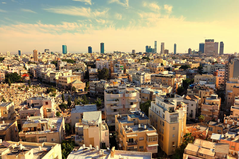 Tel Aviv view. Old town of Tel Aviv (Israel stock image