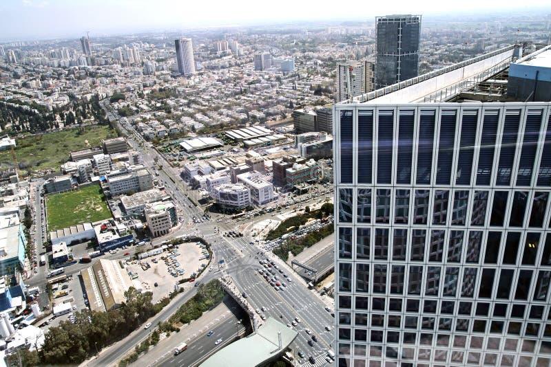 Tel. Aviv View vanaf de bovenkant stock afbeelding