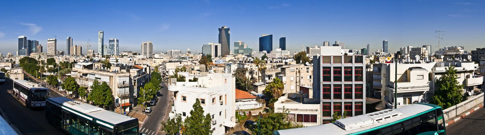 Download Tel-Aviv panoramic view stock image. Image of building - 29855729