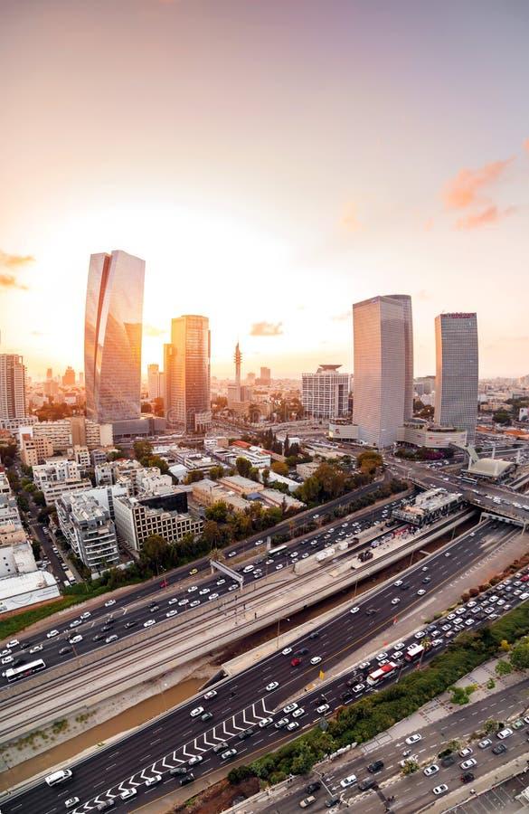Tel Aviv-Yafo,以色列鸟瞰图  免版税库存图片